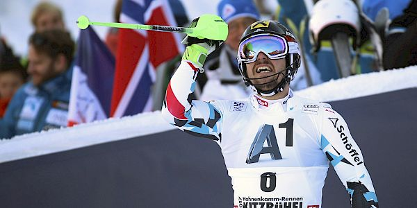 Hirscher triumphs on the Ganslernhang